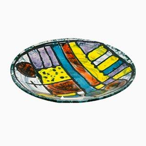 Plato de cerámica vintage de Karácsonyi