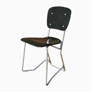 Mid-Century Desk or Side Chair by Armin Wirth for Alu Flex