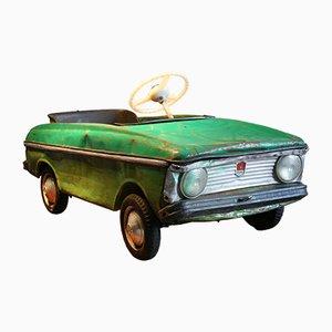 Macchina giocattolo a pedali vintage in metallo, anni '70