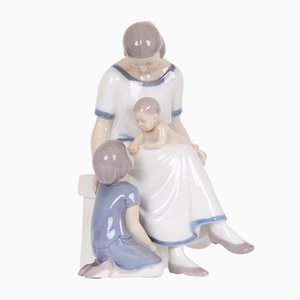 Vintage Mother and Children Porcelain Figurine from Bing & Grøndahl