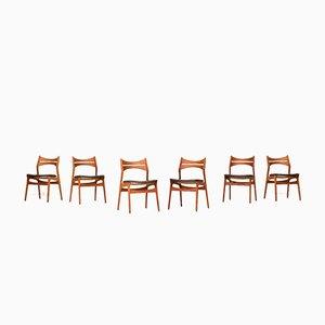 Chaises de Salle à Manger Modèle 310 par Erik Buch pour CS Mobelfabrik, 1960s