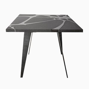 Filodifumo Ventura V2 Lava Stone & Steel Outdoor Table by Riccardo Scibetta & Sonia Giambrone for MYOP