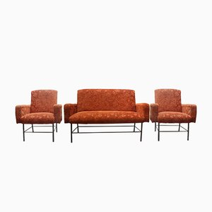 Fauteuils & Canapé Rationaliste, 1960s, Set de 2