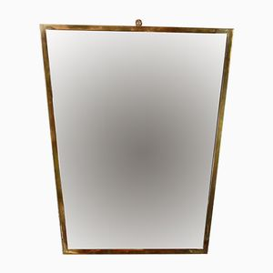 Mid-Century Mirror with Brass Frame, 1950s