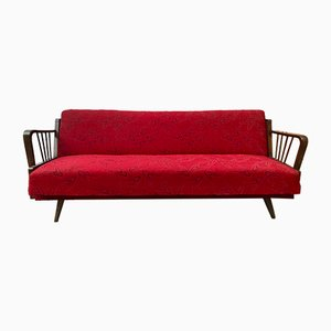 Canapé-lit Rouge Vintage, France
