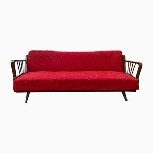 Divano letto vintage rosso, Francia