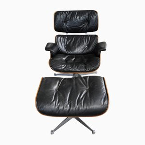 Lounge Chair & Ottoman Set by Charles & Ray Eames for Herman Miller, 1970s