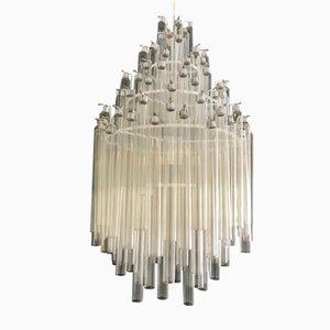 Lampadario Mid-Century tubolare di Venini, anni '50