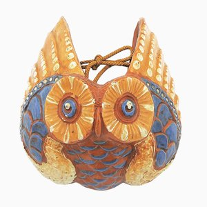 Antique Pottery Owl Wall Pocket by C H Brannam