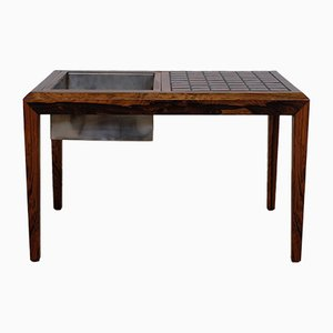 Tavolino vintage in palissandro di Severin Hansen per Haslev Mobelsnedkeri