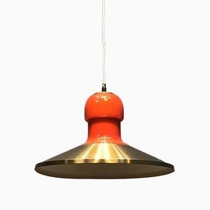 Schwedische Lampe aus Glas & Metall, 1970er