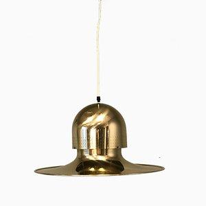 Lámpara colgante sueca en forma de platillo volante, años 70