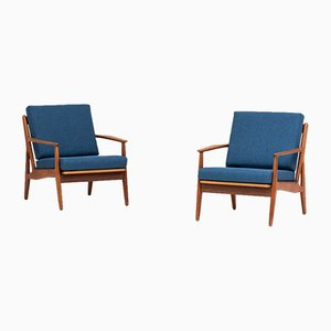 Model 6 Easy Chairs by Arne Vodder for Vamø Sonderborg, 1950s, Set of 2