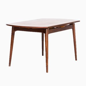 extendable round dining table by louis van teeffelen for webe 1950s