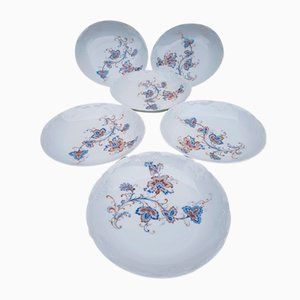 Porcelain De Limoges Soup Plates from House Tharaud, 1970s