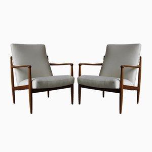 Dänische Mid-Century Sessel aus Teak, 2er Set