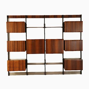 Rosewood Veneered Bookcase from Frigerio, Italy, 1960s