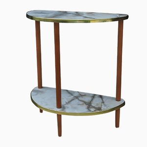 Mid-Century Semi Circle Side Table, 1960s
