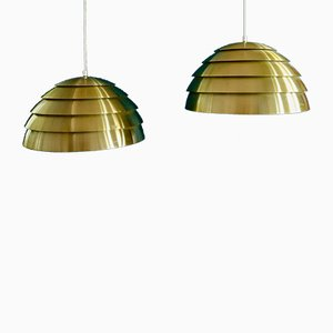 Lamingo Brass Pendants by Hans-Agne Jakobsson, 1950s, Set of 2