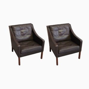 Model 2207 Armchairs by Børge Mogensen for Fredericia, 1974, Set of 2