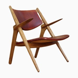 Sawbuck or Sawhorse Lounge Chair by Hans J. Wegner for Carl Hansen & Søn, 1951
