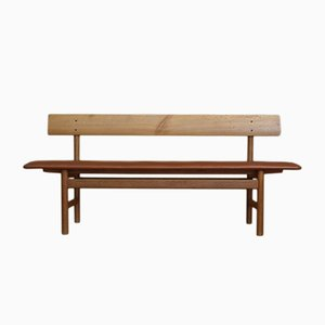 Danish Oak Bench by Børge Mogensen for Fredericia Stolefabrik, 1956