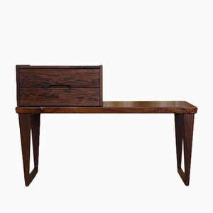 Danish Rosewood Hall Bench and Chest by Kai Kristiansen for Aksel Kjersgaard, 1950s