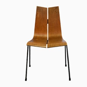 GA Teak Chair with Metal Frame by Hans Bellmann for Horgen Glarus, 1962