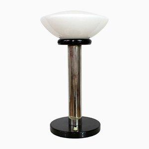 Lámpara de mesa vintage de opalina