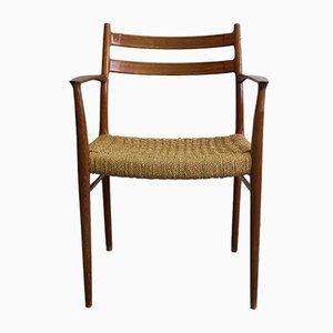 Sedia in teak di Arne Wahl Iversen per Glyngore Stolefabrik, 1968
