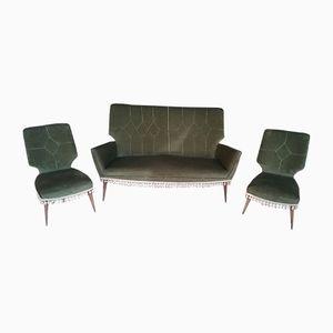 Green Living Room Set, 1950s