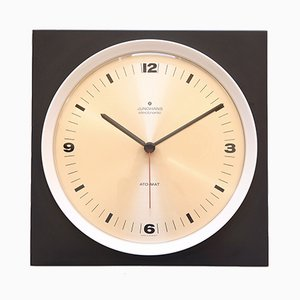 Orologio da parete minimalista di Junghaus, anni '60
