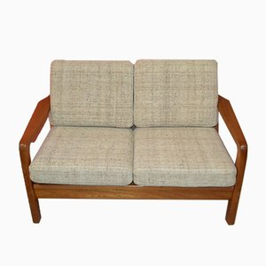 Canapé 2 Places en Teck par Juul Kristensen pour JK Denmark, 1960s