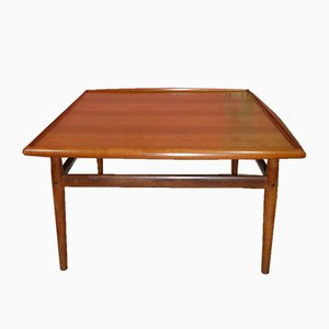 Large Danish Teak Coffee Table by Grete Jalk for Glostrup, 1960s