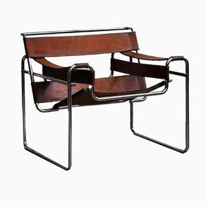 Chaise Wassily Modèle B3 Vintage par Marcel Breuer