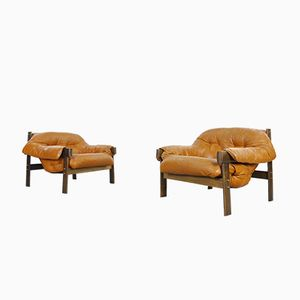Vintage Model MP 041 Lounge Chairs by Percival Lafer, Set of 2