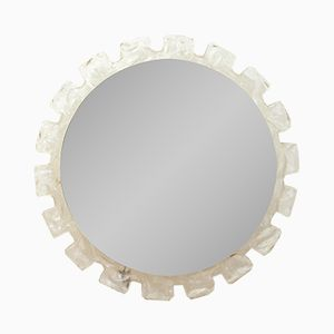 Italian Round Wall Mirror with Backlight, 1960s