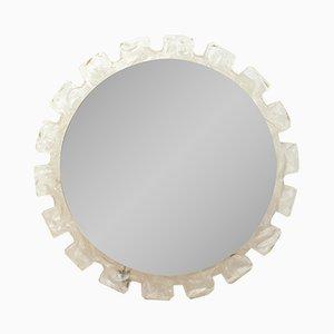 Specchio da parete rotondo retroilluminato, Italia, anni '60