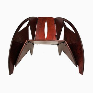 Foldable Rosewood Lounge Chair, 1960s