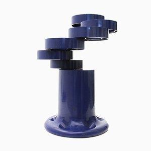 Portaombrelli Pluvium blu di Giancarlo Piretti per Castelli, anni '70