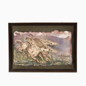 Bas-relief Vintage en Céramique par Umberto Ghersi, 1980s