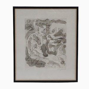 Retrato de Per Kirkeby vintage de A.R. Penck, 1984