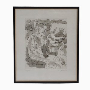 Vintage Portrait of Per Kirkeby by A.R. Penck, 1984