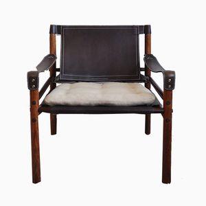 Vintage Sirocco Safari Chairs aus Palisander & Leder von Arne Norell, 2er Set