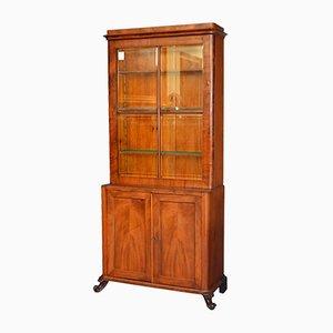 Biedermeier Mahogany Feather Cupboard, 1820s