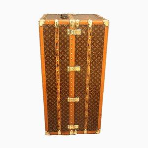 Vintage Canvas & Brass Steamer Trunk from Louis Vuitton