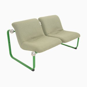 Vintage Green Upholstered Bench by Marc Held