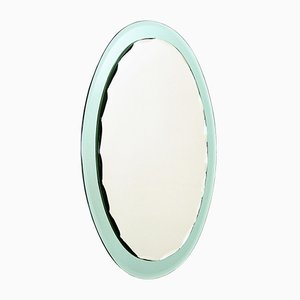 Mint Green Wall Mirror from Cristal Art, 1960s