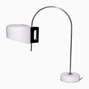 Lámpara de mesa lacada en blanco, años 60