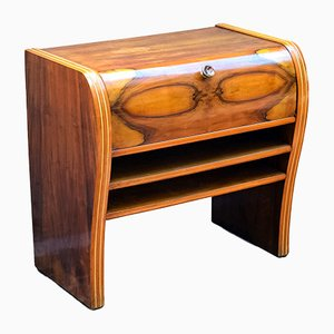 Italian Art Deco Cabinet in Walnut & Beech Wood, 1950s